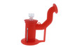 Silicone Dab Rig Waterpipe Kit with Quartz Nail - Pastel Red