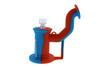 Silicone Dab Rig Waterpipe Kit with Quartz Nail - Blue & Orange