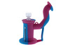 Silicone Dab Rig Waterpipe Kit with Quartz Nail - Blue & Pink