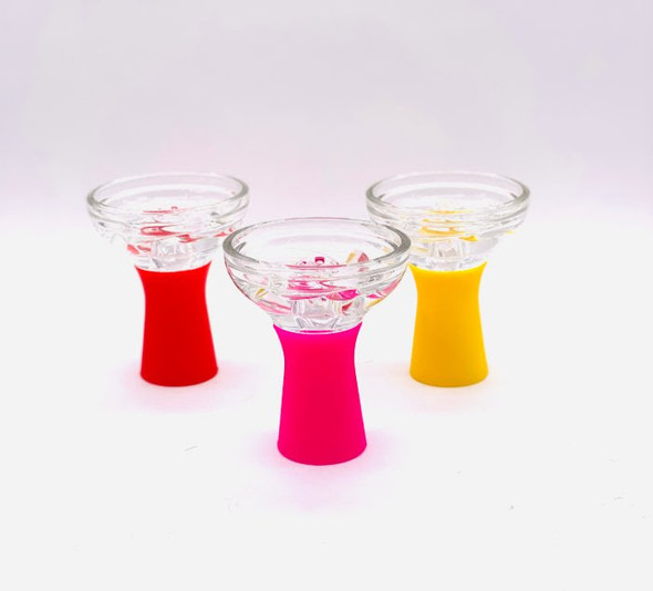 Silicone Glass Hookah Bowl