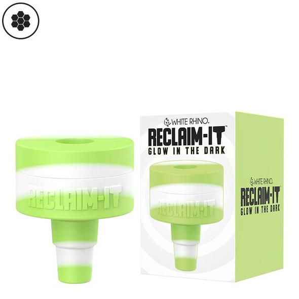 Reclaim It Glow in the Dark Silicone Reclaim Catcher 14mm - 19mm : White & Green