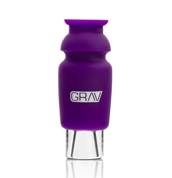 GRAV Silicone Capped Glass Crutch - PURPLE