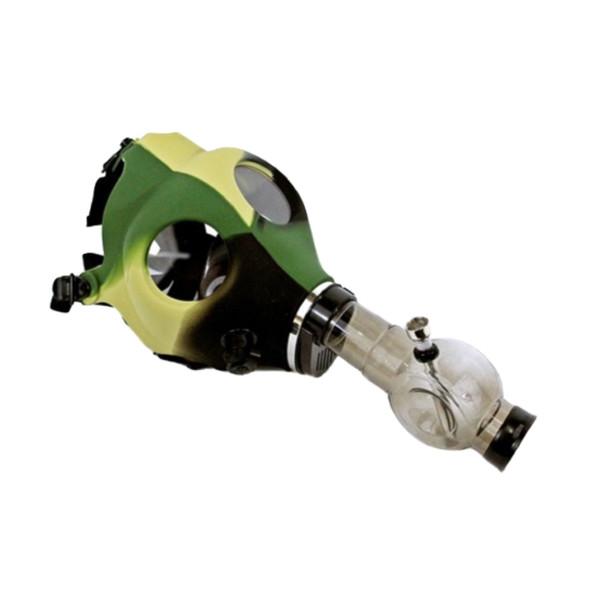 Silicone Gas Mask Bong with Acrylic Bong - Camo