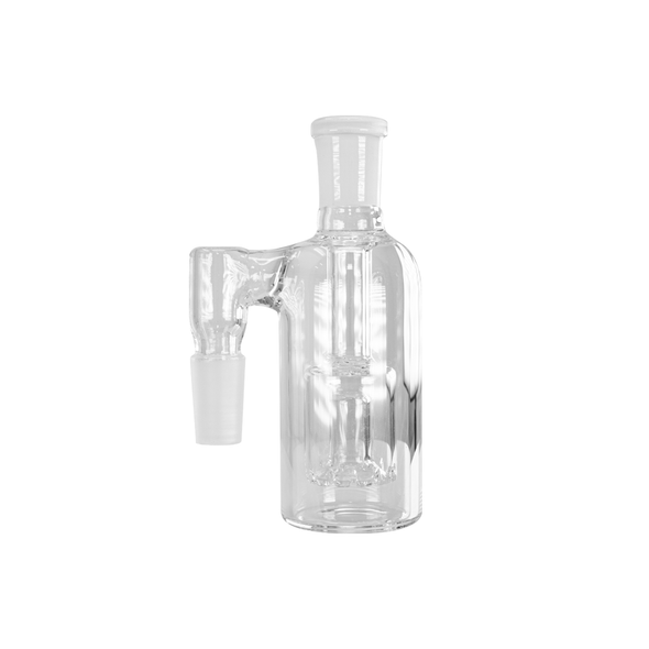 Ash Catcher with Box Perc 90 Degree Angle 14mm Male - Clear