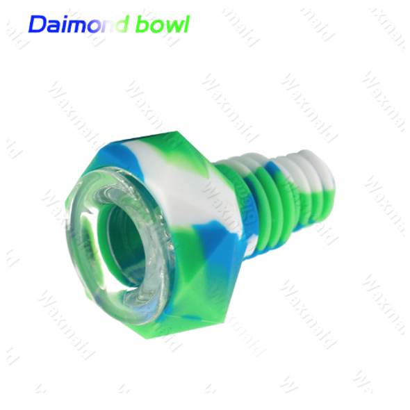 02 - Universal 14-18mm Joint Diamond Bowl (Silicone+Glass)