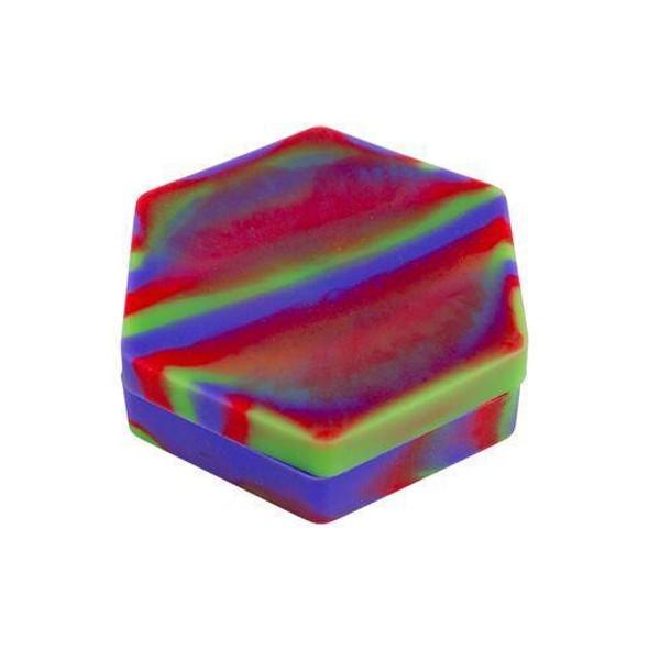 Large Hexagon 110ml Silicone Non-stick Concentrate Storage Container 1 Piece Rasta