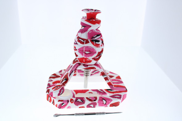 Silicone Grenade Nectar Collector with Titanium Nail - Lips