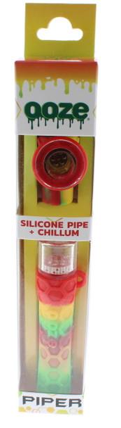 Ooze Piper Silicone Pipe + Chillum Rasta