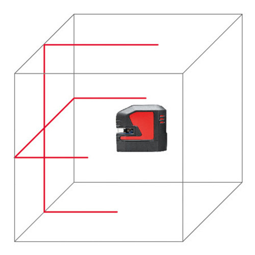 Leica LINO L2s-1 self-levelling cross-line laser, red beam (848435)