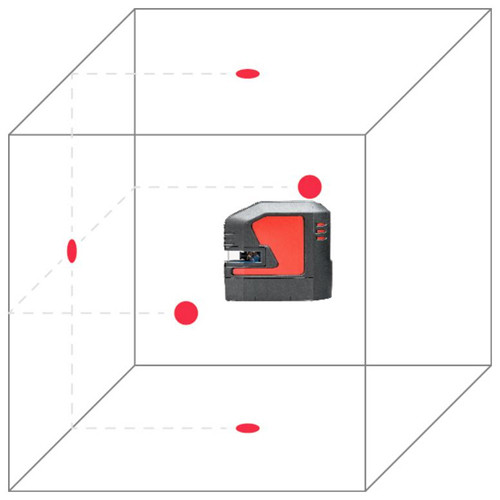 Leica Lino P5-1 self-leveling 5-point laser, red beam (864427)