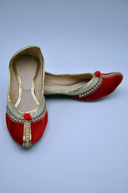 Punjabi Jutti (Red Velvet)