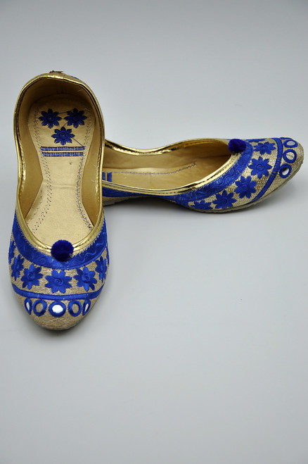 Punjabi Jutti (Royal Blue)