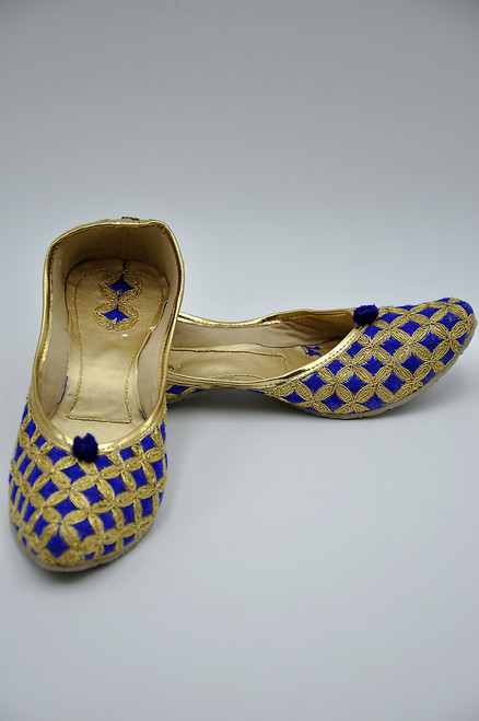 Punjabi Jutti (Royal Blue 2)