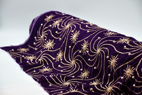 Embroidered Velvet Design 11