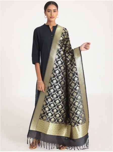 Woven Banarasi Silk Shawl (Maharani)