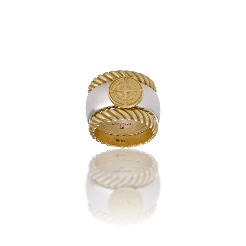 18K Sterling Silver Rowe's Wharf Stackable Ring