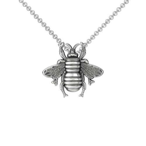 Small Bee Pendant Sterling Silver