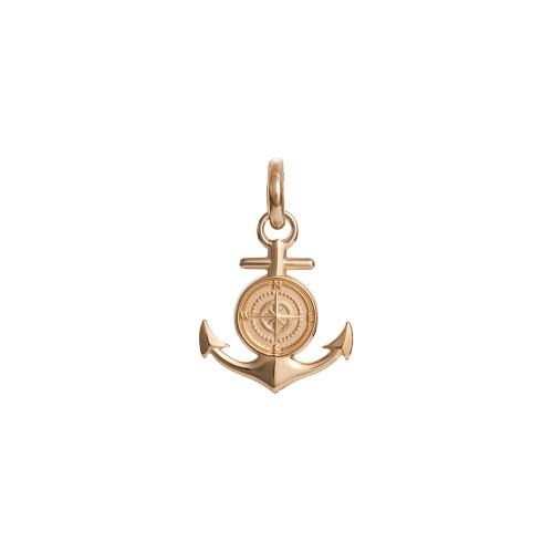 Colby Davis Pendant: Men's Small Rowe's Wharf Anchor Charm Vermeil