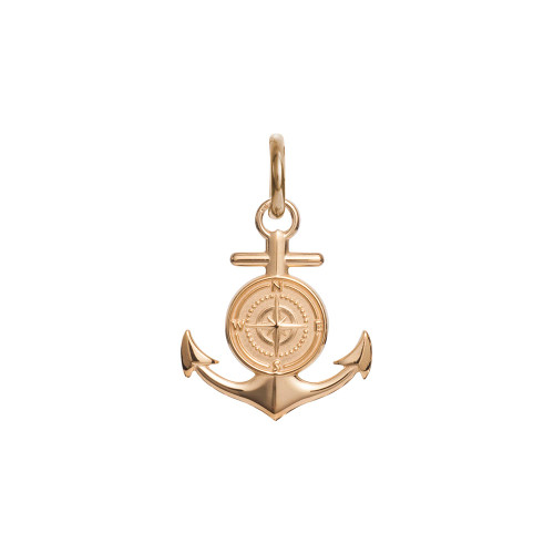 Colby Davis Pendant: Men's Large Rowe's Wharf Anchor Charm Vermeil