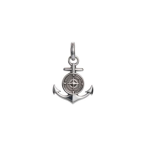 Colby Davis Pendant: Men's Small Rowe's Wharf Anchor Charm Sterling