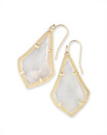 Alex Earring - Gold - Ivory Mother Of Pearl