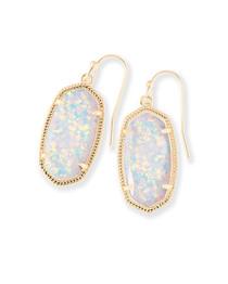 Lee Earring - Gold White Opal