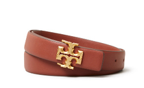 """1"""" Kira Logo Belt - Spiced Rum / Gold- Please call 540-368-2111 to purchase!"""
