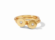 Poppy Stacking Ring - Cubic Zirconia