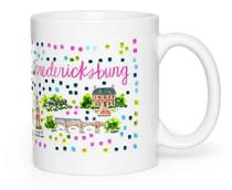 Fredericksburg, VA Map Mug
