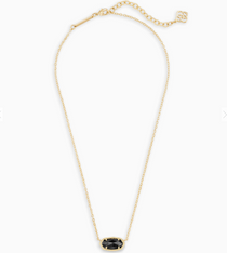 Elisa Necklace - Gold Black