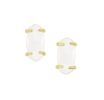 Betty Earring - Gold White Mother of Pearl