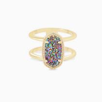 Elyse Ring - Gold Multi Drusy