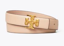 "1"" Kira Logo Belt - Devon Sand / Gold- Please call 540-368-2111 to purchase!"