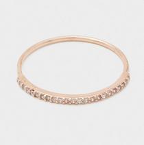 Shimmer Bar Ring - Rose Gold