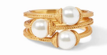 Calypso Pearl Stacking Ring - Gold / Pearl