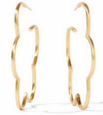 Large 2.25  Inches Gardenia Hoop - Gold