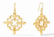 Fleur-de-Lis Lace Earring - Gold