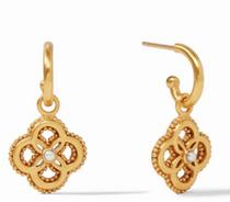Chloe Hoop & Charm Earring -Gold / Pearl