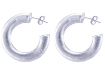 Smaller Irene Hoops - Silver  Plated