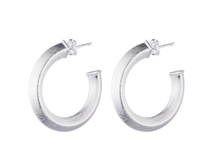 Cleo Hoop Earrings - Silver Plated