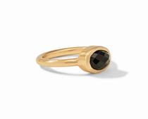 Jewel Stack Ring - Gold Obsidian Black
