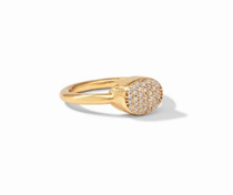 Jewel Stack Ring - Gold Pave Cubic Zirconia