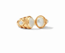 Cassis Ring - Gold Iridescent Clear Crystal