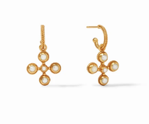 Somerset Hoop & Charm Earring - Gold Pearl