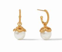 Chloe Pearl Hoop & Charm Earring - Gold