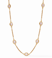 Calypso Demi Delicate Station Necklace - Gold Rose