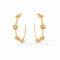Colette Large Pearl Hoop - Gold