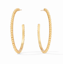 Colette Large Beaded Hoop - Gold