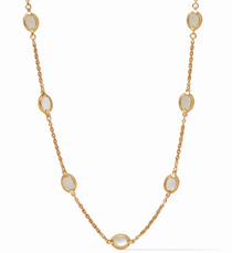 Calypso Demi Delicate Station Necklace - Gold Mother of Pearl