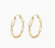Parker Link Small Hoops - Gold